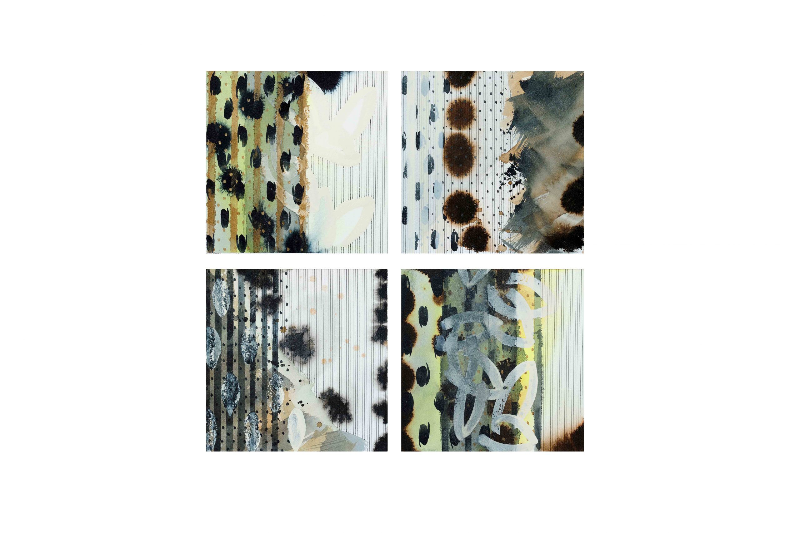 10 x 10 | 13 – 17 – 18 – 19 | mixed media on paper | 2021